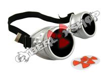 Cyber Goggles - Matt Silver - Includes FREE Lense Design Inserts!