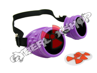 Cyber Goggles - Neon Purple - Includes FREE Lense Design Inserts!