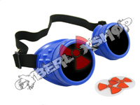 Cyber Goggles - Royal Blue - Includes FREE Lense Design Inserts!