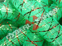 Tubular Crin - Large - Green Non-Metallic with Thread (5 yds)