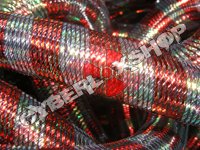Tubular Crin - Large - Iridescent Green Red (5 yds)