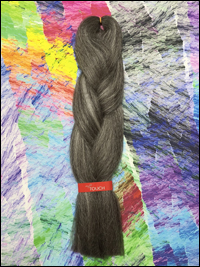 LA Trend Kanekalon Jumbo Braid - #44 Gun Metal Grey