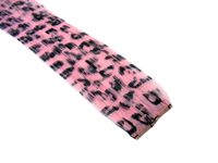 "Clip-In Extensions - Baby Pink / Black Leopard 12"" (pack of 2)"