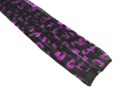 "Clip-In Extensions - Black / Purple Leopard 12"" (pack of 2)"