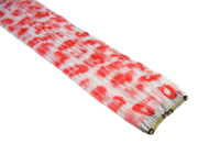 "Clip-In Extensions - White / Red Leopard 12"" (pack of 2)"