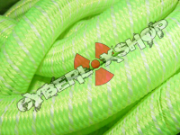 Tubular Crin - Large - Lime Yarn with White Thread (5 yds)
