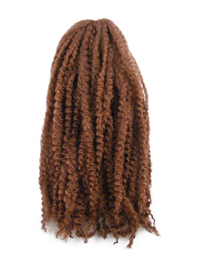 CyberloxShop Marley Braid Afro Kinky - #30 Dark Reddish Brown