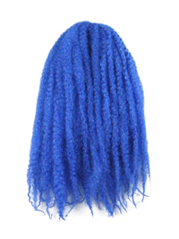 CyberloxShop Marley Braid Afro Kinky - Blue