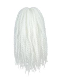 CyberloxShop Marley Braid Afro Kinky - Bright White