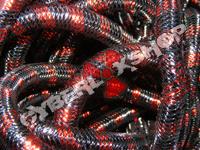 Tubular Crin - Mini - Black Real Red Stripe (5 yds)