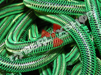 Tubular Crin - Mini - Neon Green with Black Metallic (5 yds)