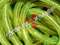 Tubular Crin - Mini - Neon Green with Gold Metallic (5 yds)