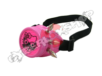 Mono Goggles - Candy Pink with Cyber Spikes / Steam Kitty