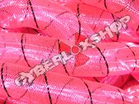 Tubular Crin - Large - Neon Fuchsia with Black Thread (5 yds)