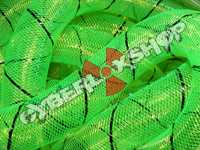 Tubular Crin - Large - Neon Green with Black Thread (5 yds)
