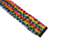 "Clip-In Extensions - Neon Rainbow / Black Leopard 12"" (pack of 2)"