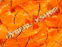 Tubular Crin - Large - Orange Non-Metallic with Black Thread (5 yds)