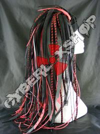 Red Predator Cyberlox Wig