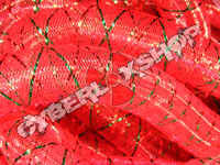 Tubular Crin - Large - Red Non-Metallic with Thread (5 yds)
