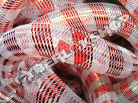 Tubular Crin - Large - Red Opal Stripe (5 yds)