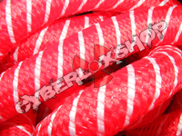 Tubular Crin - Large - Red Yarn with White Thread (5 yds)
