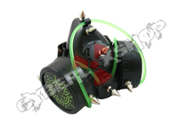 Cyber Respirator - Black / Green Tubing / Electrons