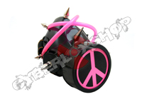 Cyber Respirator - Black / Pink Tubing / Peace