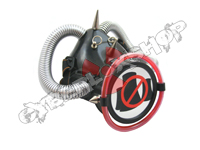 Cyber Respirator - Black / Silver & Red Tubing / No Nukes