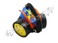Cyber Respirator - Blue / Orange & Black Tubing / Yellow Biohazard