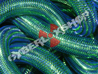 Tubular Crin - Large - Royal Non-Metallic with Emerald Metallic (5 yds)