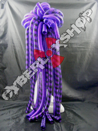 Cyberlox Scrunchie - Purple / Purple Black Stripe