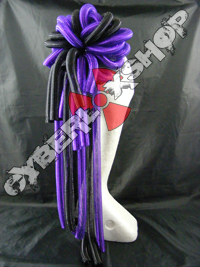 Cyberlox Scrunchie - Purple / Black