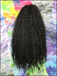CyberloxShop Marley Braid Afro Kinky - #1B Off Black (Silky)
