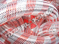 Tubular Crin - Large - Silver Red Stripe (5 yds)