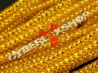 Tubular Crin - Skinny - Gold Metallic (10m Offcuts)