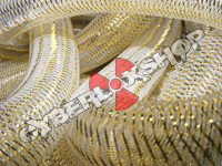 Tubular Crin - Large - Soft Gold Metallic (5 yds)
