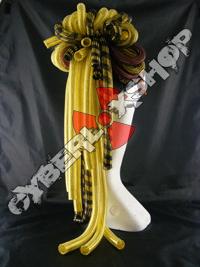 Cyberlox Scrunchie - Sunshine / Black Yellow / Brown