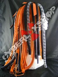 Tech-X Orange Cyberlox Wig