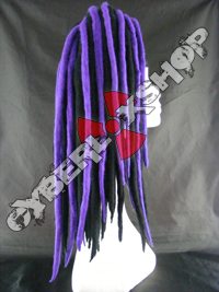 Rosa (Black / Violet) Wool Dread Falls